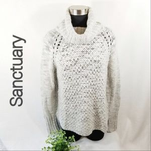 Sanctuary S Oversized Turtleneck Sweater 3169